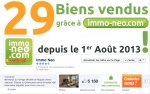 immo-neo.com in the Top 15 of real estate Facebook Pages Facebook in France