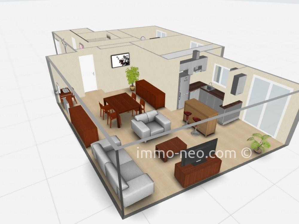 Vendita appartamento grasse 3 locali 75 m2 for Planimetrie seminterrato da 1000 piedi quadrati