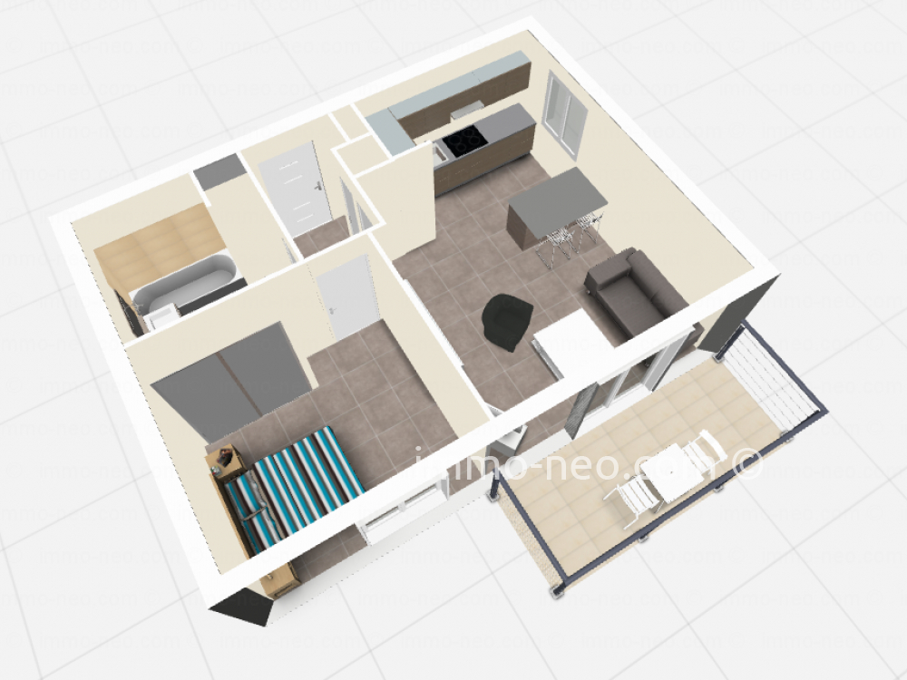 Vendita appartamento tanneron 2 locali 40 m2 for Planimetrie seminterrato da 1000 piedi quadrati