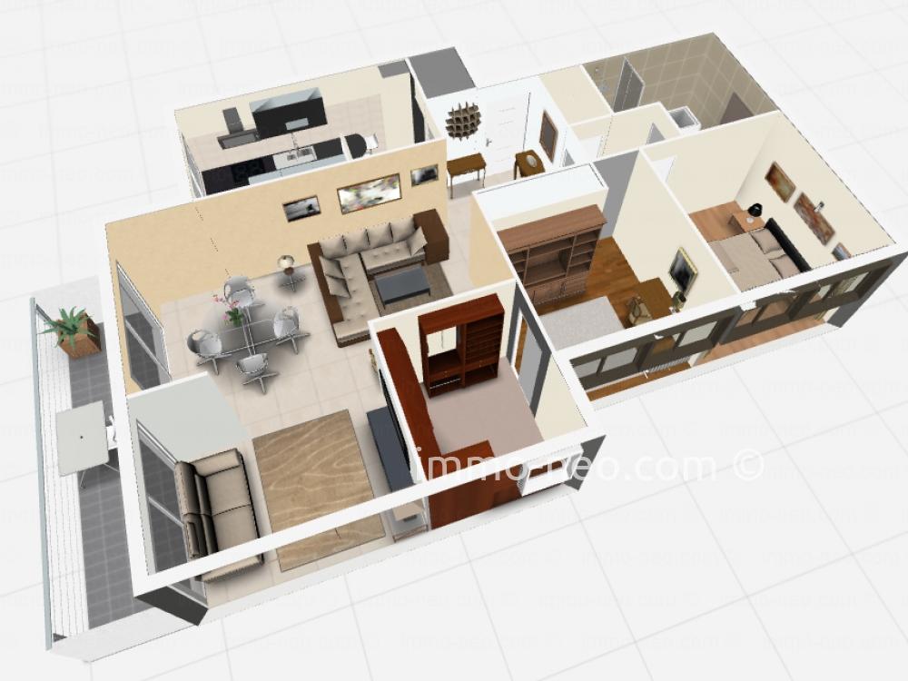 Vendita appartamento saint rapha l 3 locali 85 m2 for Planimetrie seminterrato da 1000 piedi quadrati