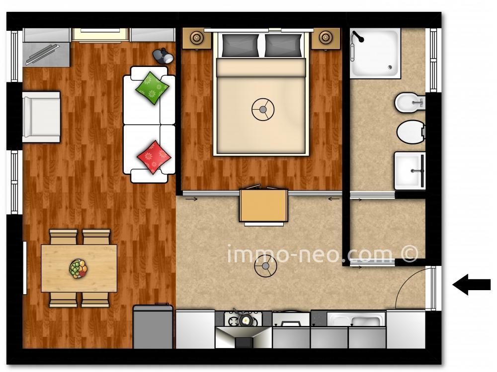 Affitto appartamento milano 2 locali 42 m2 for Planimetrie seminterrato da 1000 piedi quadrati
