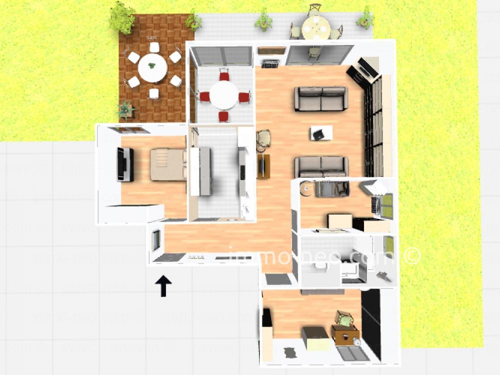Vendita appartamento antibes 4 locali 80 m2 for Planimetrie seminterrato da 1000 piedi quadrati