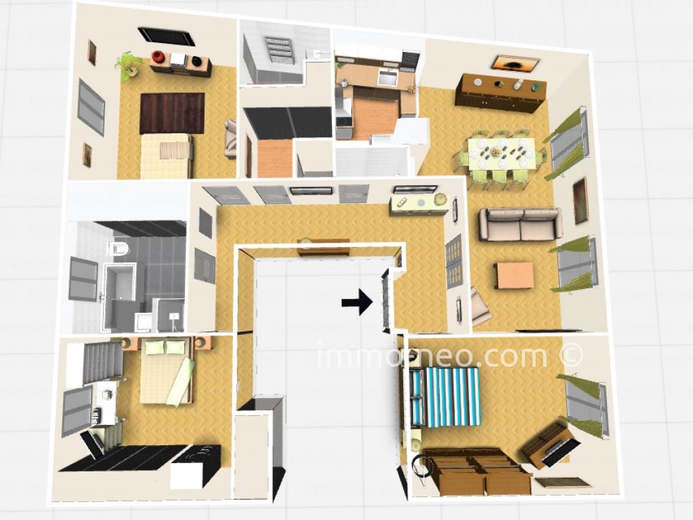 Vendita appartamento nice 3 locali 121 m2 for Planimetrie in stile sud