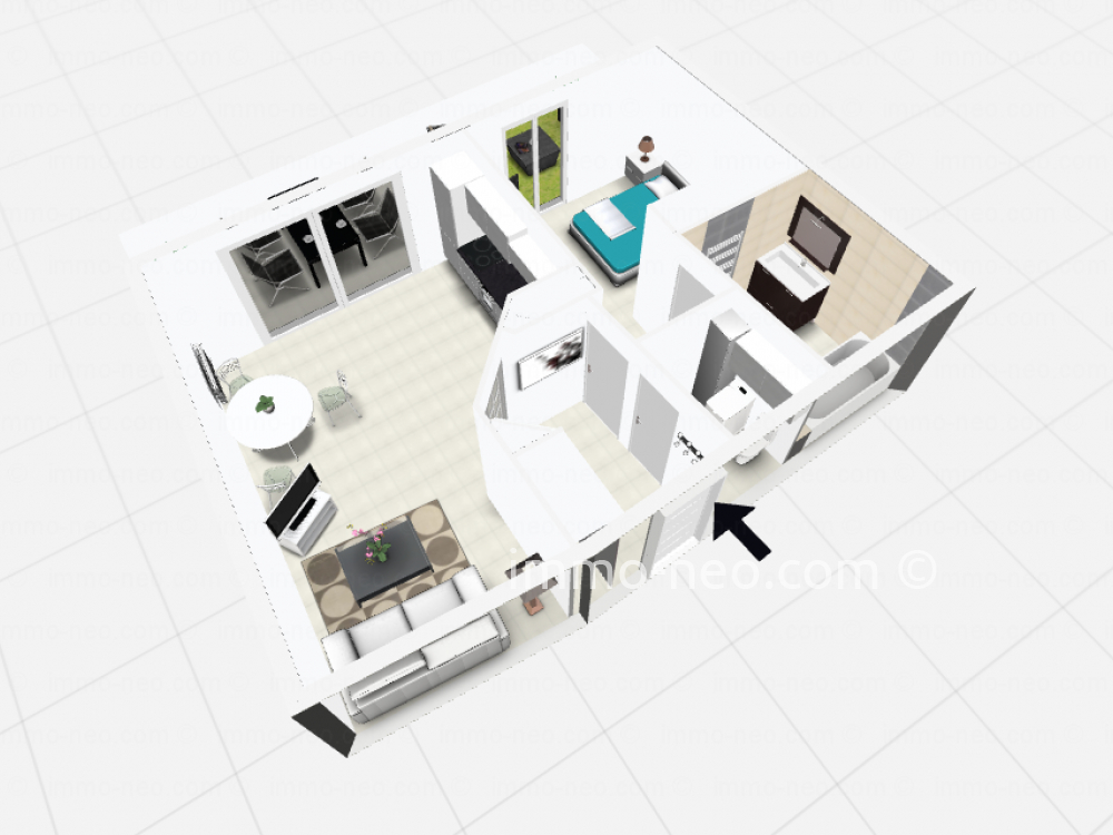 Vendita appartamento fr jus 2 locali 50 m2 for Planimetrie seminterrato da 1000 piedi quadrati
