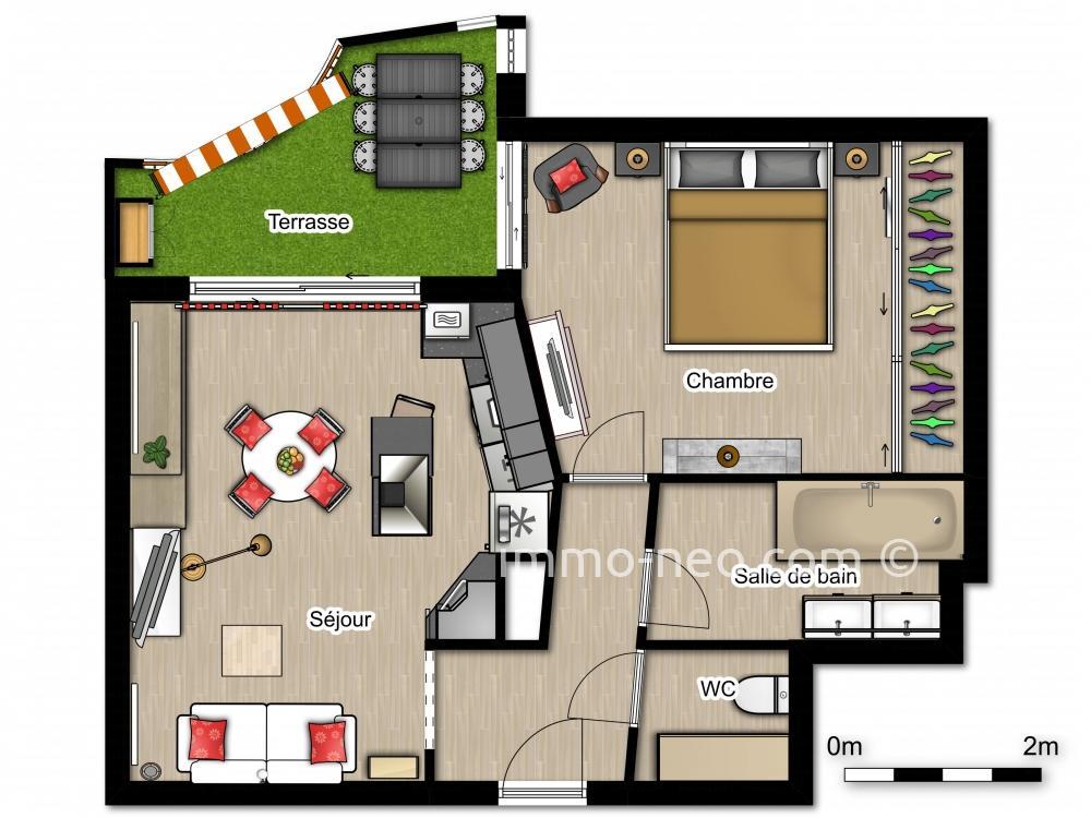 Vendita appartamento golfe juan 2 locali 40 m2 for Planimetrie seminterrato da 1000 piedi quadrati