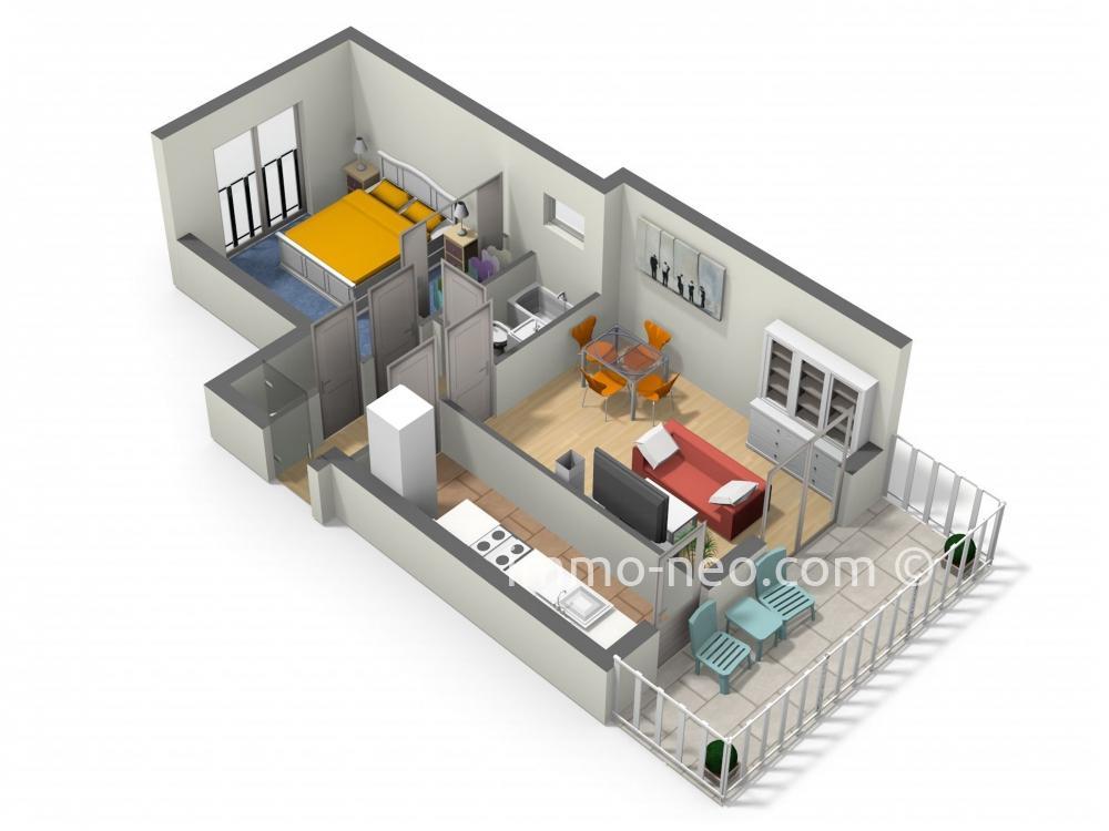 Vendita appartamento cannes 2 locali 43 m2 for Planimetrie seminterrato da 1000 piedi quadrati
