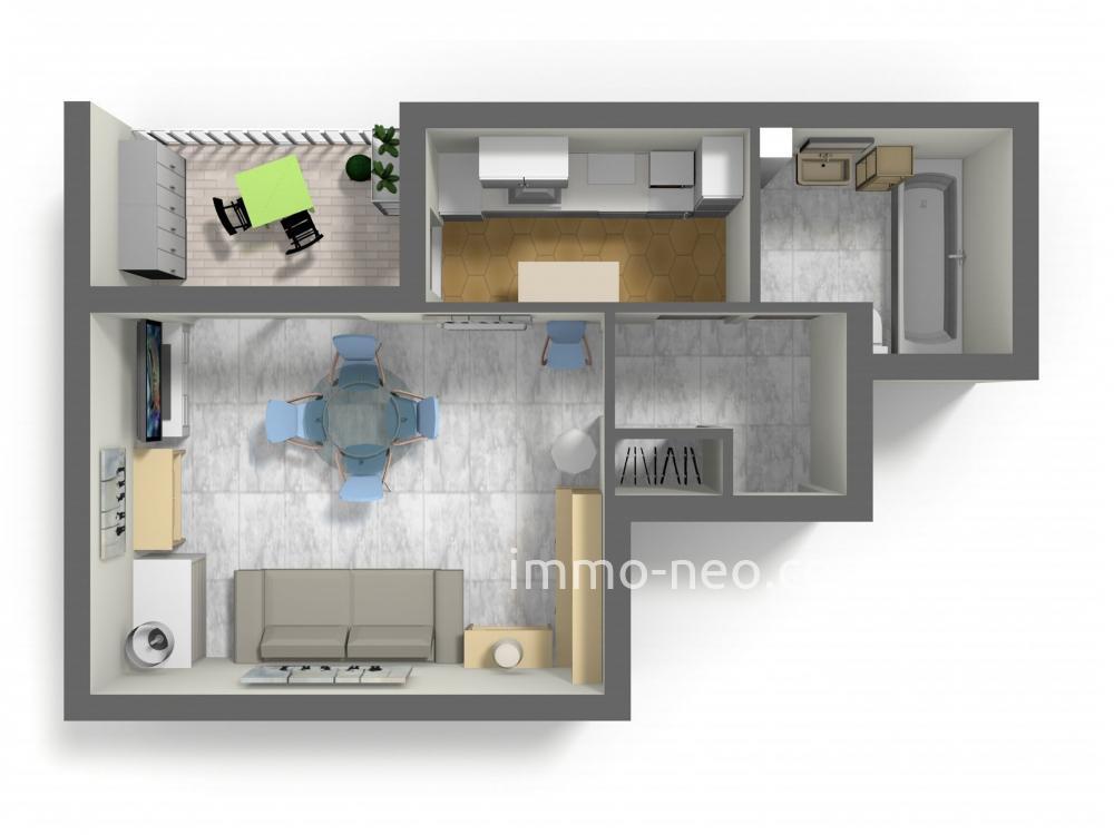 Vendita appartamento golfe juan monolocale 31 m2 for Planimetrie seminterrato da 1000 piedi quadrati