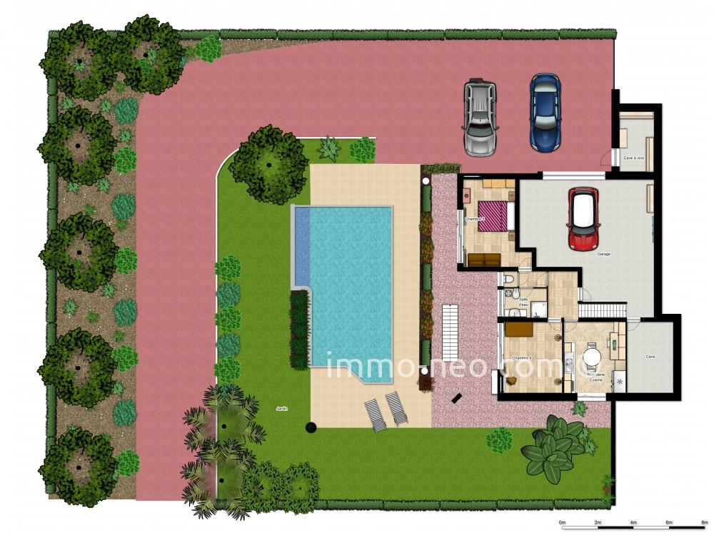 Vendita casa indipendente antibes 7 locali 244 m2 for Planimetrie in stile sud