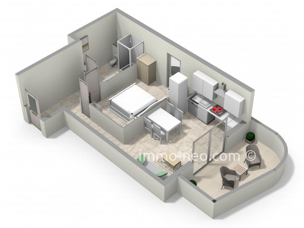 Vendita appartamento juan les pins 2 locali 40 m2 for Planimetrie seminterrato da 1000 piedi quadrati