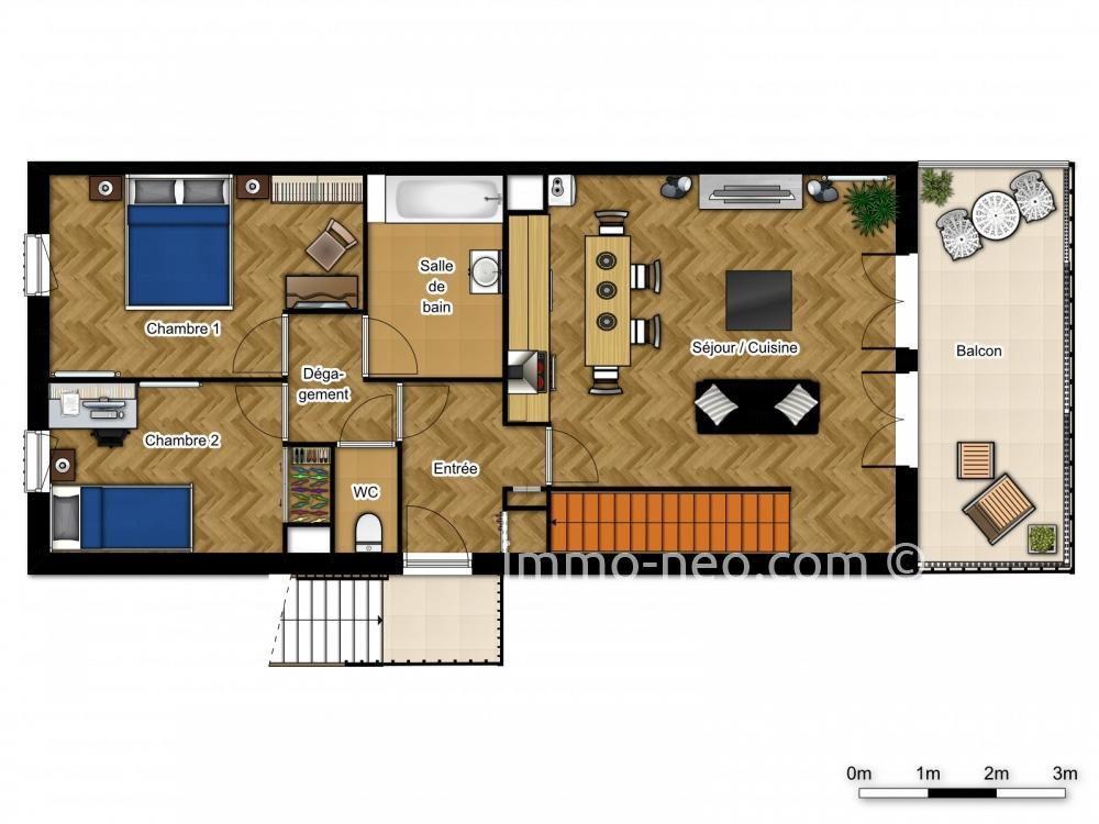 Vendita appartamento verneuil sur seine 4 locali 100 m2 for Planimetrie seminterrato da 1000 piedi quadrati