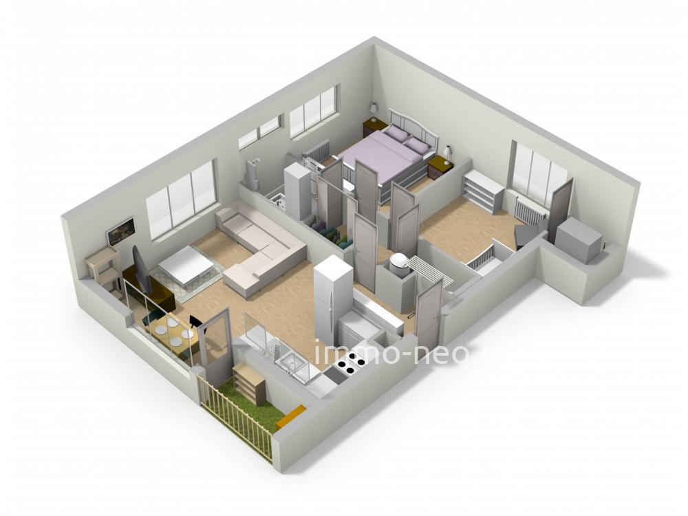 Vendita appartamento la ciotat 3 locali 57 m2 for Planimetrie seminterrato da 1000 piedi quadrati