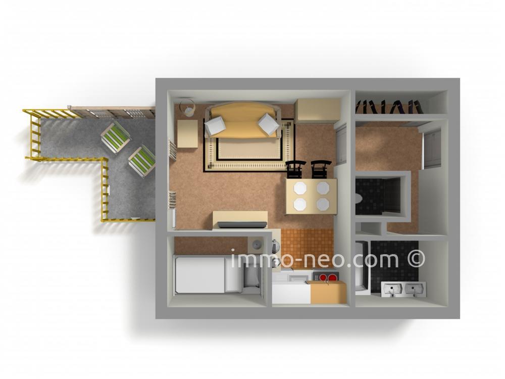 Vendita appartamento risoul monolocale 24 m2 for Planimetrie seminterrato da 1000 piedi quadrati