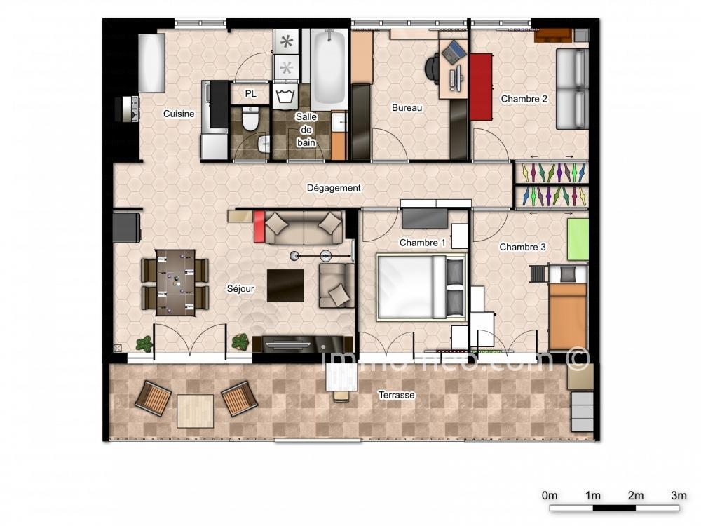 Vendita appartamento toulon 5 locali 78 m2 for Planimetrie seminterrato da 1000 piedi quadrati