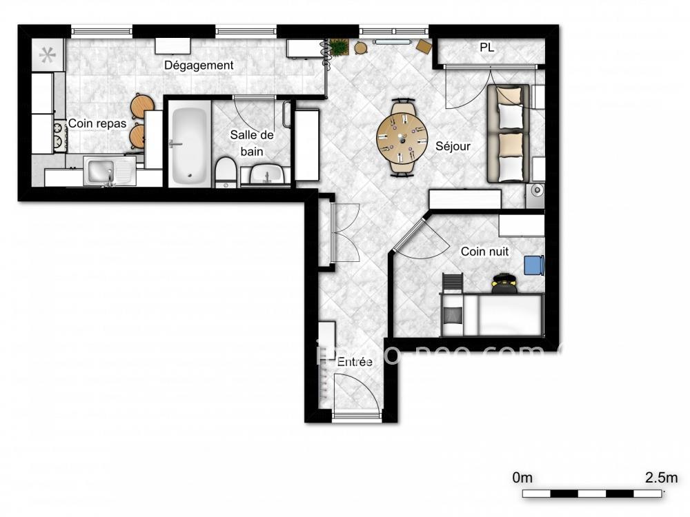 Vendita appartamento valbonne monolocale 30 m2 for Planimetrie seminterrato da 1000 piedi quadrati