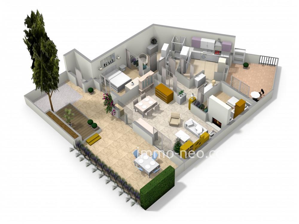 Vendita appartamento cannes la bocca 3 locali 90 m2 for Planimetrie seminterrato da 1000 piedi quadrati