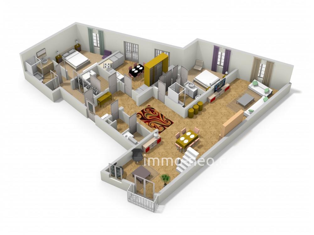 Vendita appartamento saint tropez 4 locali 167 m2 for Planimetrie seminterrato da 1000 piedi quadrati
