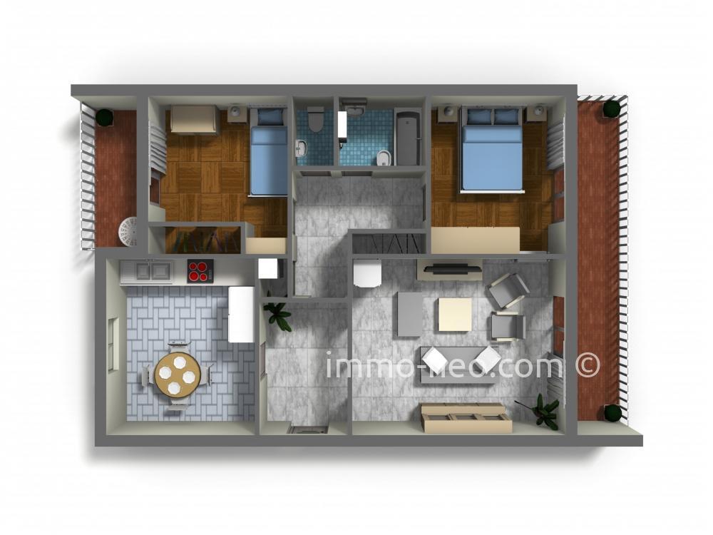 Vendita appartamento roquebrune cap martin 3 locali 61 m2 for Planimetrie seminterrato da 1000 piedi quadrati