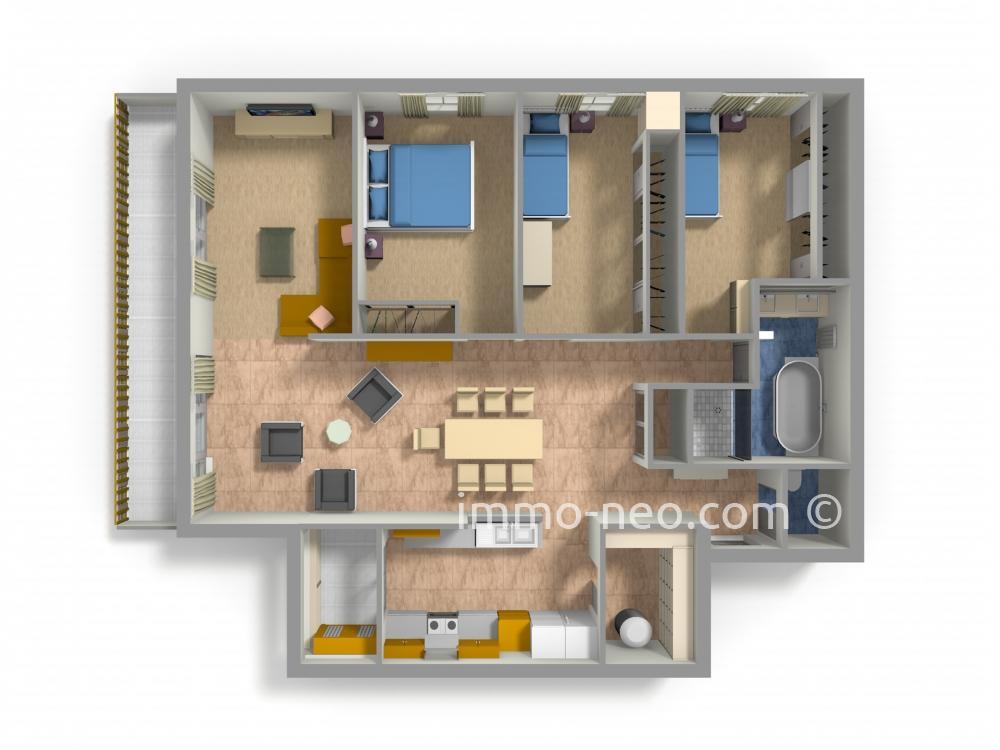 vendita appartamento cran gevrier 4 locali 100 m2. Black Bedroom Furniture Sets. Home Design Ideas