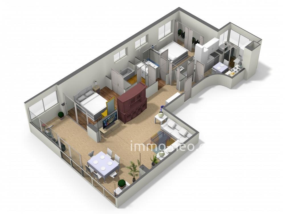 Vendita appartamento le cannet 3 locali 72 m2 for Planimetrie seminterrato da 1000 piedi quadrati