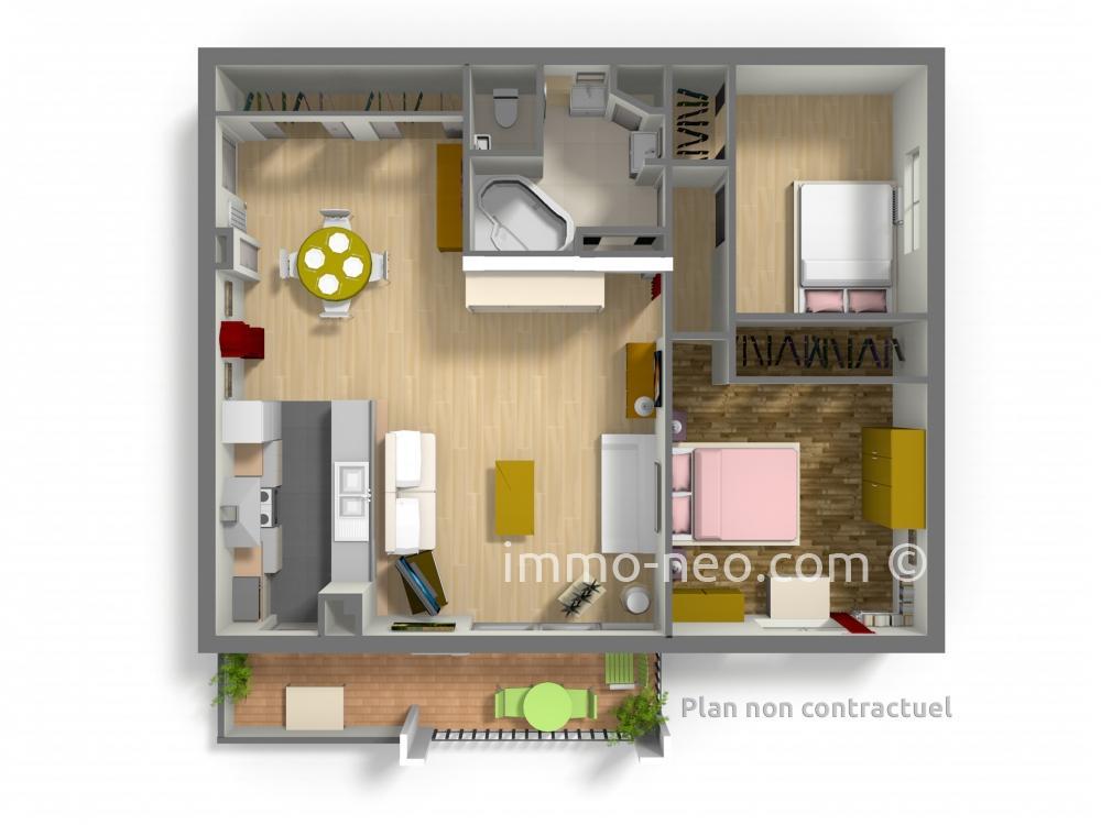 Vendita appartamento toulon 3 locali 74 m2 for Planimetrie seminterrato da 1000 piedi quadrati
