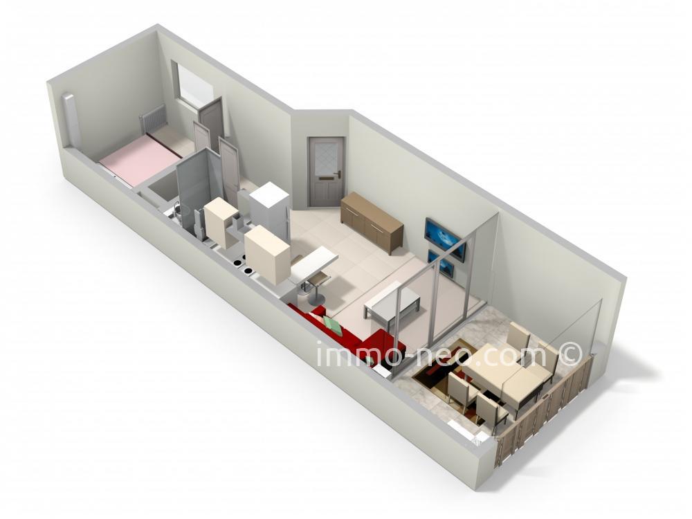 Vendita appartamento th oule sur mer 2 locali 29 m2 for Planimetrie seminterrato da 1000 piedi quadrati