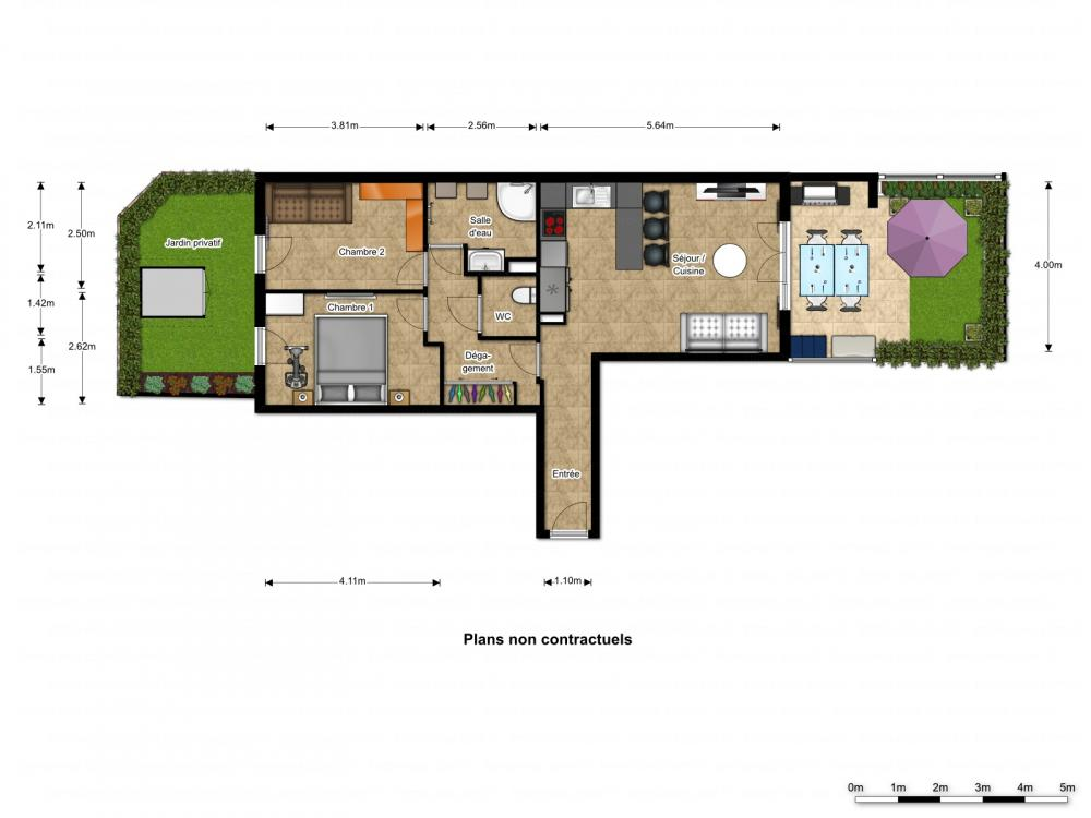 Vendita appartamento belgentier 3 locali 62 m2 for Planimetrie seminterrato da 1000 piedi quadrati