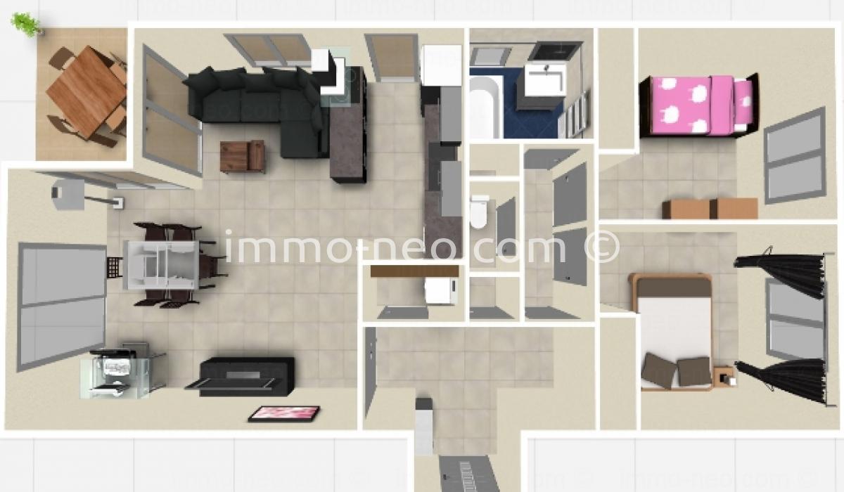 Vendita appartamento antibes 3 locali 65 m2 for Planimetrie in stile sud