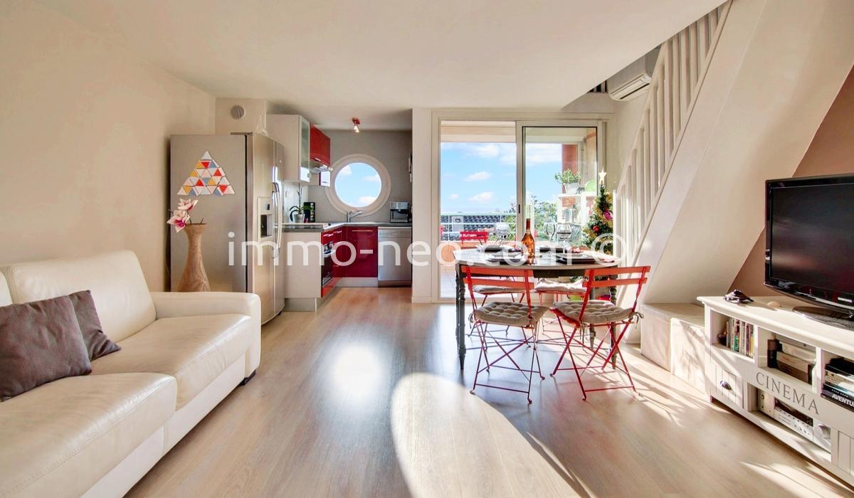 Vendita appartamento villeneuve loubet 2 locali 56 m2 for Planimetrie vista montagna