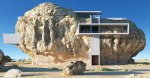 La futuristica casa dentro la roccia