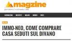 Come comprare casa seduti sul divano: magzine, giornale web dell'Università Cattolica, parla di immo-neo.com!