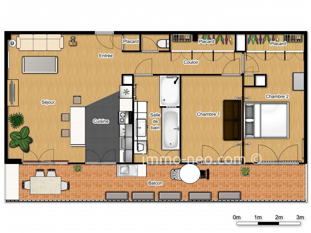 vente appartement saint laurent du var 3 pi ces 85 m2. Black Bedroom Furniture Sets. Home Design Ideas
