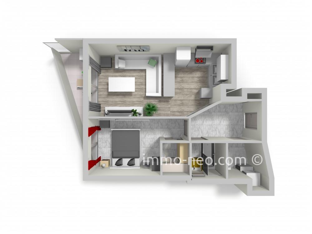 vente appartement saint laurent du var 2 pi ces 45 m2. Black Bedroom Furniture Sets. Home Design Ideas