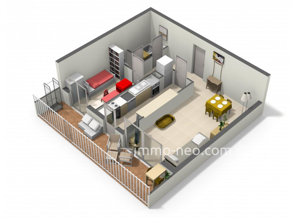 plan appartement 48m2