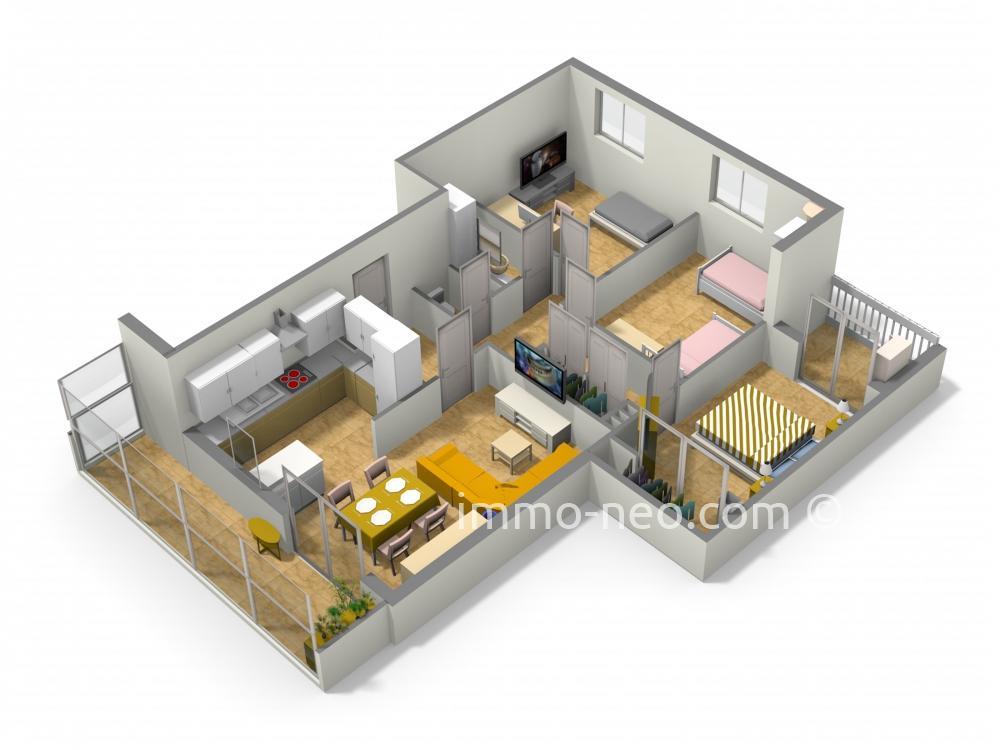vente appartement saint laurent du var 4 pi ces 74 m2. Black Bedroom Furniture Sets. Home Design Ideas