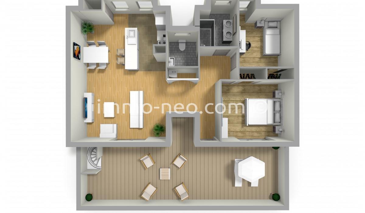 vente appartement saint rapha l 3 pi ces 80 m2. Black Bedroom Furniture Sets. Home Design Ideas