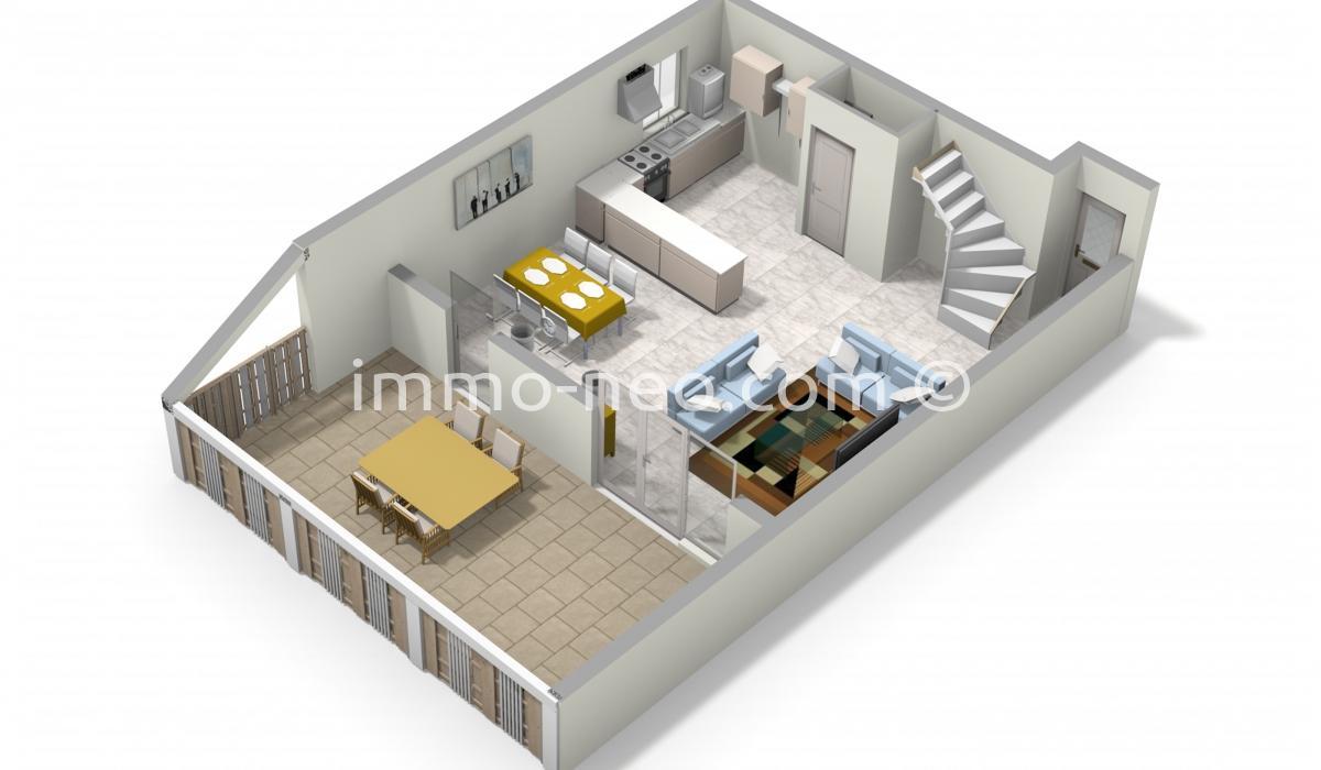 Vente appartement venelles 3 pi ces 80 m2 for Chambre 9m2 loi