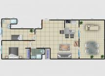 Vente appartement Juan-les-Pins 3 Pièces 54 m2