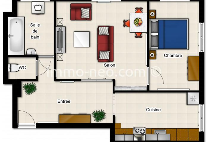 Vente appartement chatou 2 pi ces 60 m2 - Amenagement appartement 60m2 ...