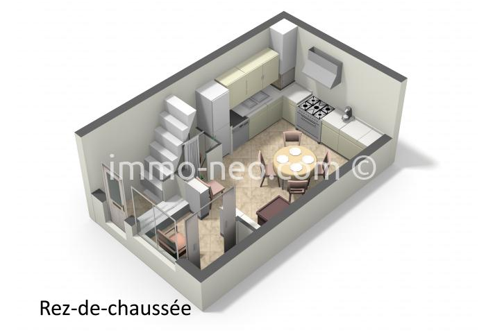 vente maison en pierre valbonne 4 pi ces 81 m2. Black Bedroom Furniture Sets. Home Design Ideas