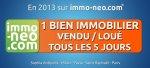 1 vente/location tous les 5 jours sur immo-neo.com en 2013 !