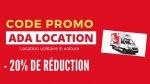 Code Promo ADA Location -20% I Réservez votre utilitaire pour déménager