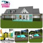 Les plans 3D de la maison des secrets...