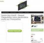 MarCom Startup poste un article sur le concept immo-neo.com