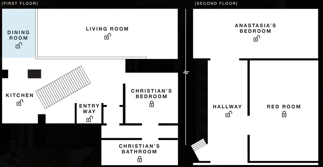 D couvrez l 39 appartement de christian grey du film 50 nuances de grey - Chambre 50 nuances de grey ...