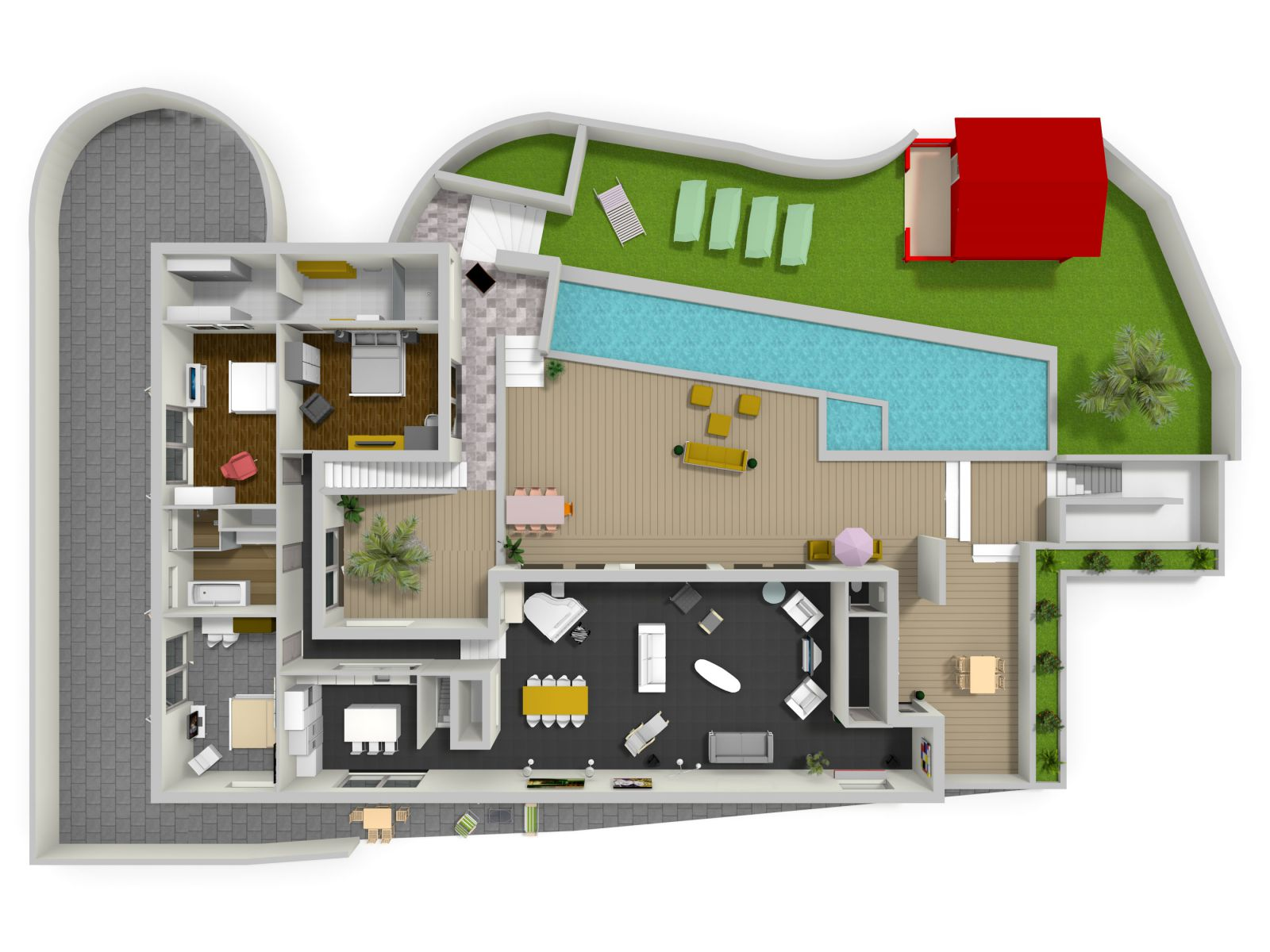 Plan 3d maison secret story 8 for Plans maison 3d