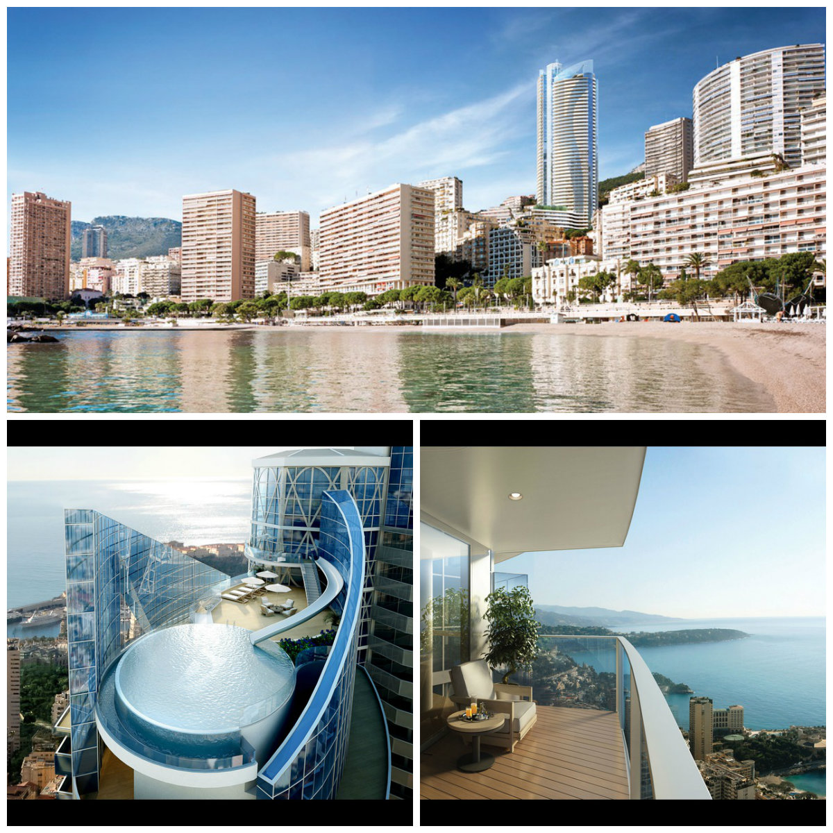 Monaco l 39 appartement le plus cher du monde 300 for Piscine odeon